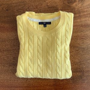 GAP Yellow Cable Knit Sweater